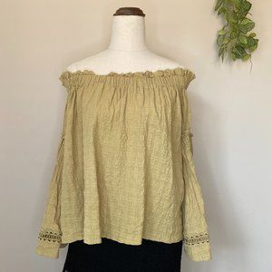 Toby Heart Ginger Size Small Off Shoulder Top